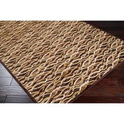 Woven Multicolored Calurnet Geometric Links Contemporary Viscose Rug (2'2