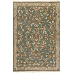 Hand-knotted Multicolored Calurnet Semi-Worsted New Zealand Wool Rug (5'6 x 8'6)