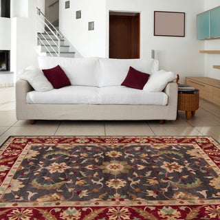 Hand-knotted Multicolored Adams Semi-Worsted New Zealand Wool Rug (9' x 13')