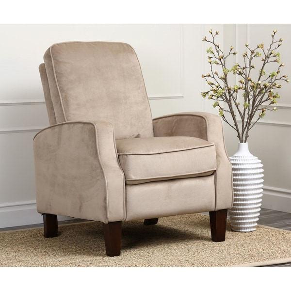 ABBYSON LIVING Camden Beige Microsuede Pushback Recliner