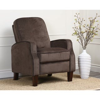 Abbyson Living Camden Dark Brown Microsuede Pushback Recliner