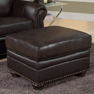 Abbyson Living Richfield Italian Leather Ottoman