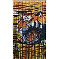 Colorful Indoor Jungle Tigers Painted Bamboo Curtain (Vietnam)