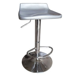 Sybill Adjustable Silver Chrome Finish Air Lift Stools (Set of 2)