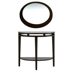 Furniture of America Modern Full Moon Shape Mirror