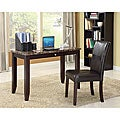Sean Faux Marble Top Espresso Finish 2-piece Desk Set