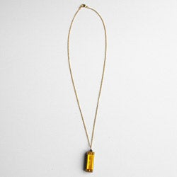Adrienne Audrey Jewelry Gold Harmonica Necklace