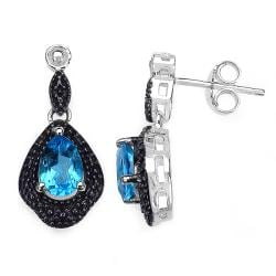 Malaika Sterling Silver Blue Topaz Earrings
