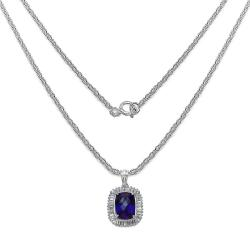 Malaika Sterling Silver Amethyst and White Topaz Pendant