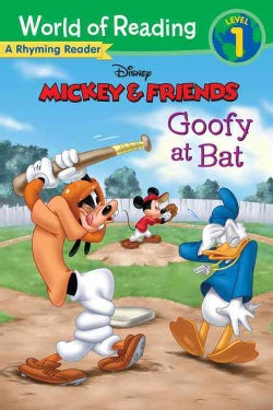 Goofy at Bat: A Rhyming Reader (Paperback)