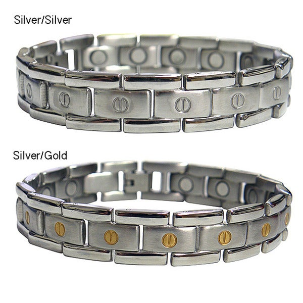 Magnetic Therapy Flat Screwhead Stainless Steel Magnetic Bracelet