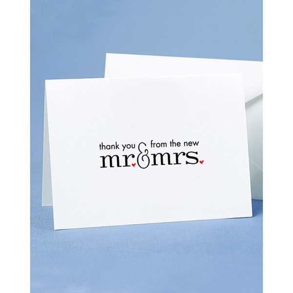 HBH Mr and Mrs Thank You Cards 9190135