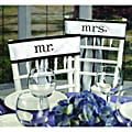 Hortense B. Hewitt Together At Last Chair White Wedding Sashes