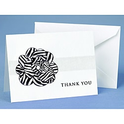Hortense B. Hewitt Zebra Print Flower Thank You