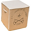 French Key Square Ottoman