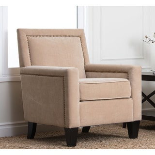Abbyson Living Palermo Fabric Nailhead Trim Armchair