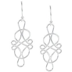 La Preciosa Sterling Silver Infinity Earrings