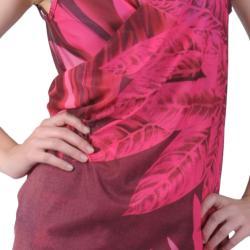 Pink Saress Women's Casual Beach Wrap Dress