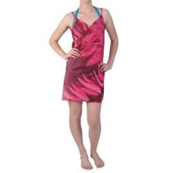 Pink Saress Women's Casual Beach Wrap Dress
