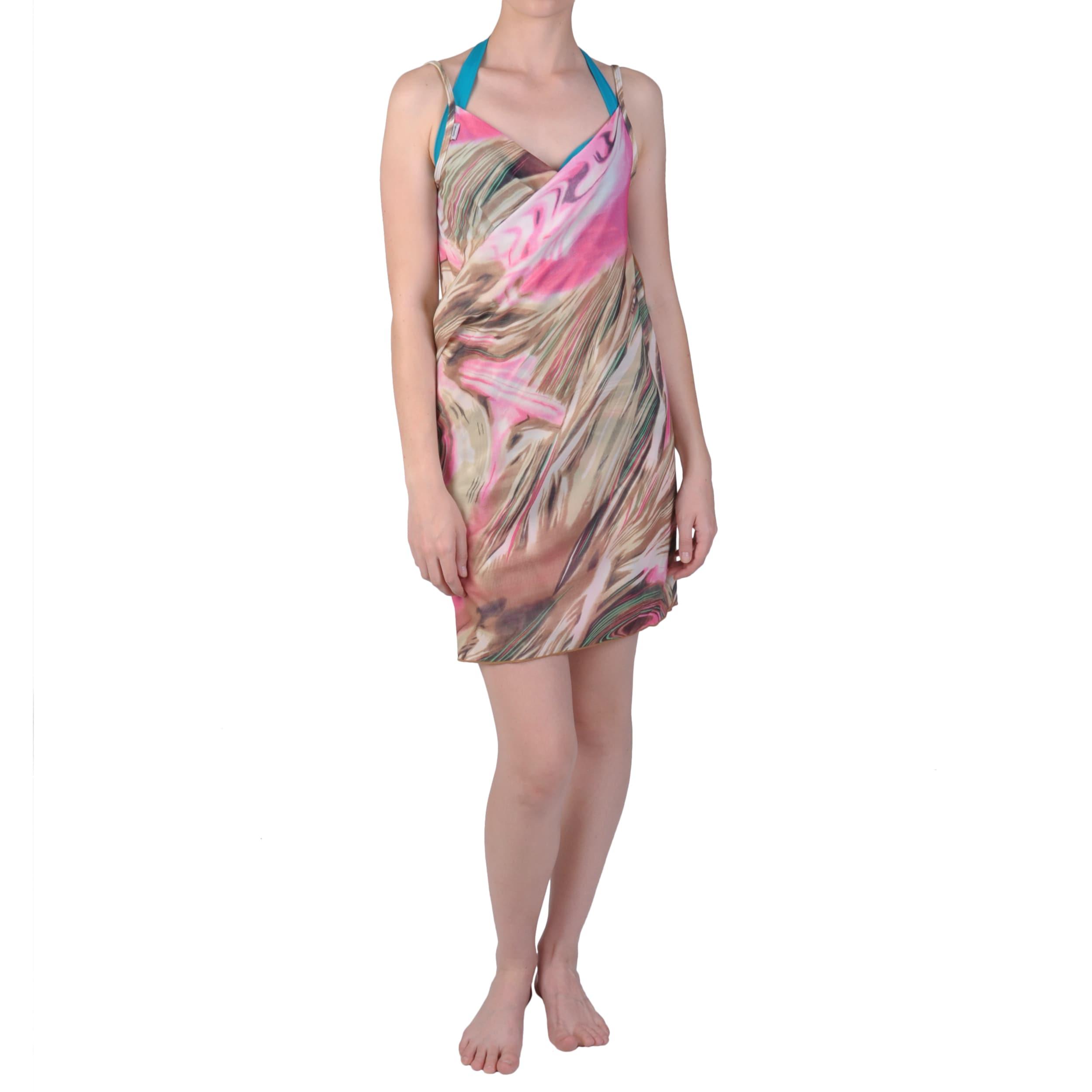 Saress Women's Casual Beach Wrap V-Neck Dress