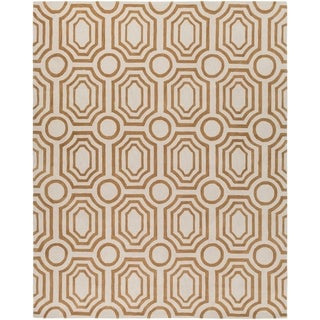 angelo:HOME Hand-tufted Gold Hudson Park Polyester Rug (8' x 10')