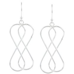 La Preciosa Sterling Silver Double Infinity Earrings