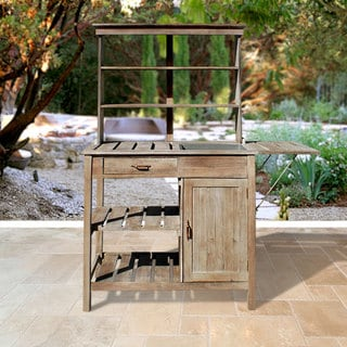 Renaissance Outdoor Hand-scraped Potting Bench