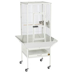 Prevue Pet Products Parkway Chalk White Wrought Iron Bird Cage