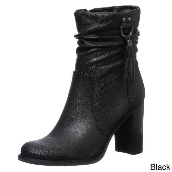 Bandolino Women's Leather Ankle Tassel Boots FINAL SALE