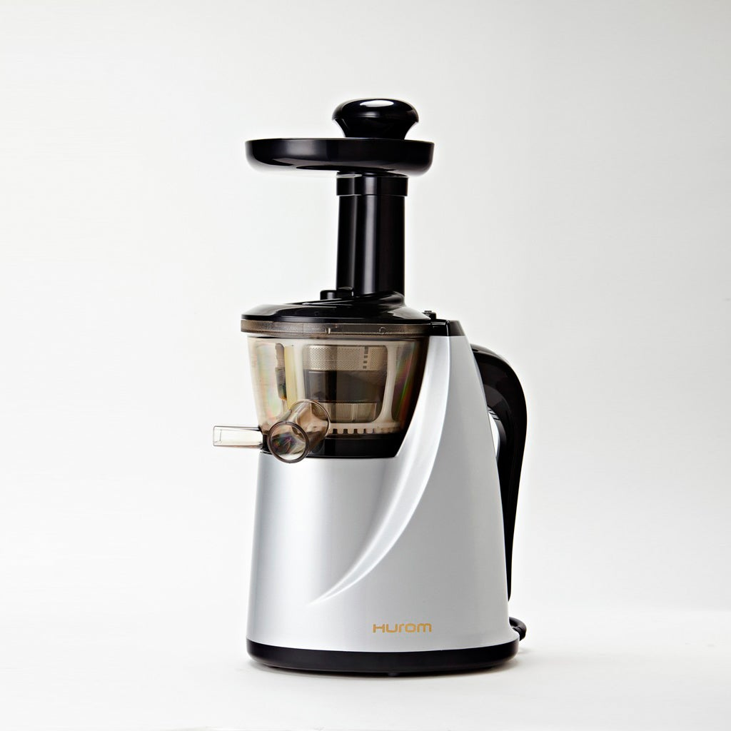 Hurom Slow Silver Juicer with Cookbook