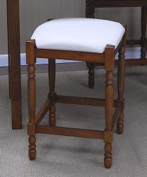 24-inch Walnut Upholstered Counter Stool