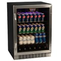 EdgeStar 148-can Black/ Stainless Steel Beverage Cooler