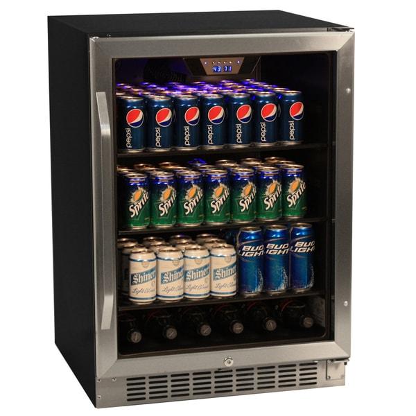 EdgeStar 148-can Black/ Stainless Steel Beverage Cooler