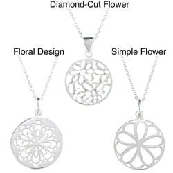 La Preciosa Sterling Silver Round Necklace (17-inch)