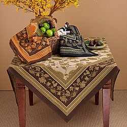 Flower and Leaf Design Table Linen Set