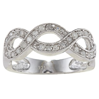 Sterling Silver 1/2ct TDW Infinity Diamond Band (G-H, I2)