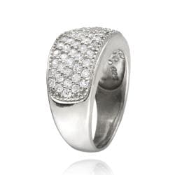 Icz Stonez Sterling Silver Cubic Zirconia Eternity Wedding Ring (1 7/8ct TGW)