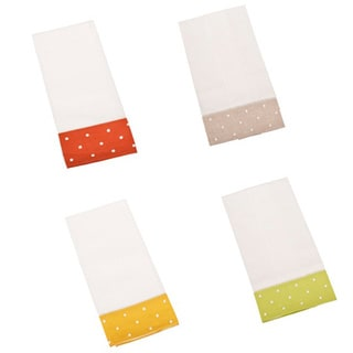 Embroidered Hemstitched Kitchen Towels (Set of 4)