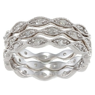 Sterling Silver 3/4ct TDW Diamond Eternity Stackable Band (G-H, I1-I2)