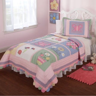 Anna's Daydream Embellished 3-piece Quilt Set