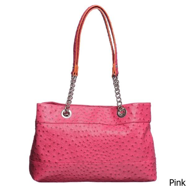 Mondani Ostrich-embellished Tote Handbag