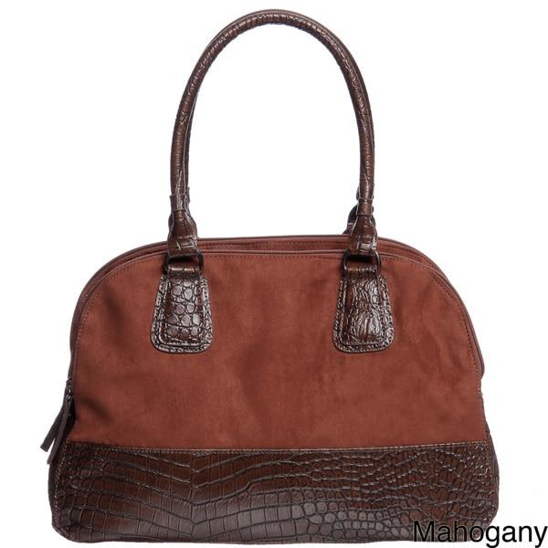 Mondani Spencer Croco Embossed Tote Bag