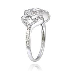 Icz Stonez Sterling Silver Cubic Zirconia Diamond-shaped Engagement Ring (1 1/4ct TGW)
