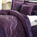 Horizon Plum 8-piece Comforter Set