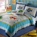 Colorful Sea Applique 3-piece Quilt Set