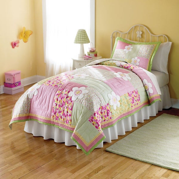 Julia Applique Embellished 3-piece Quilt Set