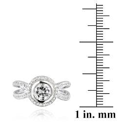 Icz Stonez Sterling Silver Cubic Zirconia Solitaire Engagement Ring (2 7/8ct TGW)