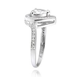 Icz Stonez Sterling Silver Cubic Zirconia Pear-shaped Engagement Ring (1 5/8ct TGW)
