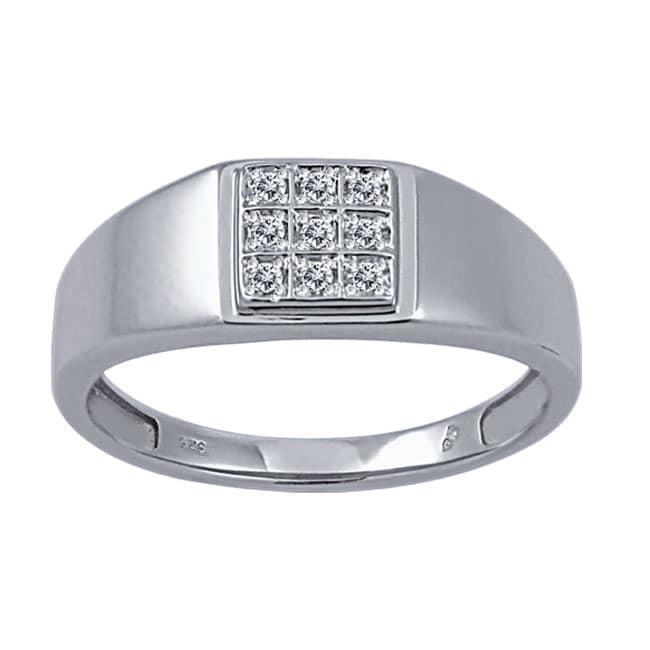 1/10 CTW White Diamond Men's Ring