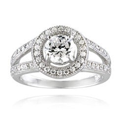 Icz Stonez Sterling Silver Cubic Zirconia Round Engagement Ring (2ct TGW)
